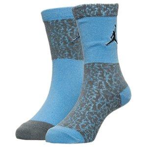 Kids' Jordan Elephant Print 2-Pack Crew Socks