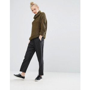 Monki Roll Neck Ballon Sleeve Sweater