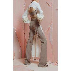Stretch Suiting Flared Tie Trousers by Adeam | Moda Operandi