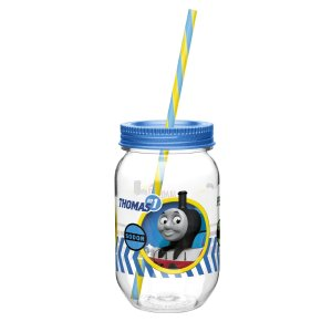 $6.47 Zak! Designs Tritan Mason Jar Tumbler Featuring Thomas & Friends