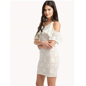 Trello Cold Shoulder Lace Dress
