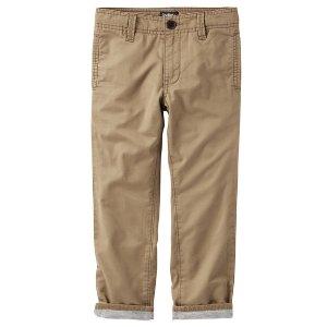 Kid Boy Jersey-Lined Twills | OshKosh.com