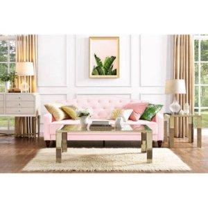9 by Novogratz Vintage Tufted Sofa Sleeper II