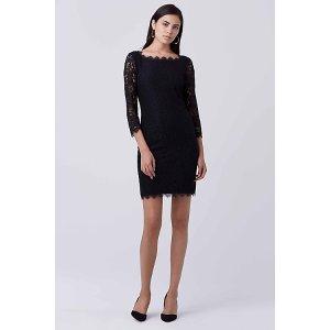 Zarita Long Lace Dress   by DVF