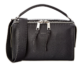 FENDI Lei Selleria Leather Boston Bag