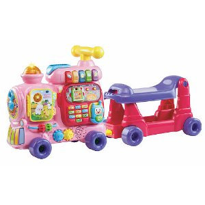 Start! 2016 Black Friday! $24.99 VTech Sit-To-Stand Ultimate Alphabet Train, Yellow or Pink