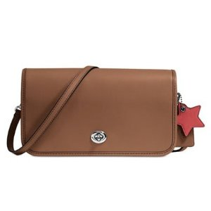 COACH Turnlock Crossbody in Glovetanned Leather - Handbags & Accessories - Macy's