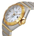 $3650 OMEGA Constellation Chronometer Mother of Pearl Dial Steel and 18kt Yellow Gold Ladies Watch