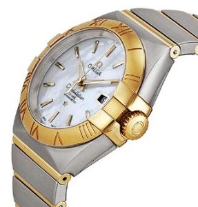 OMEGA Constellation Chronometer Mother of Pearl Dial Steel and 18kt Yellow Gold Ladies Watch