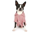 Romy+ Jacob 'Farmer John'Plaid Cotton Jersey Dog Shirt