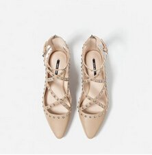 STUDDED BALLERINAS SHOES