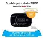 Only $39.99 (80% Off) MiFi 500 4G LTE/3G Preowned Hotspot @ FreedomPop