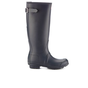 Hunter Women's Original Back Adjustable Wellies - Navy - Free UK Delivery over £50