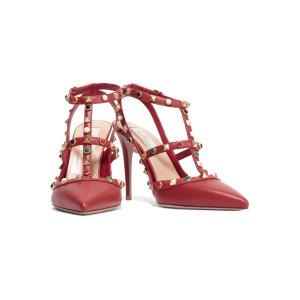Rockstud embellished leather pumps | Valentino | US | THE OUTNET