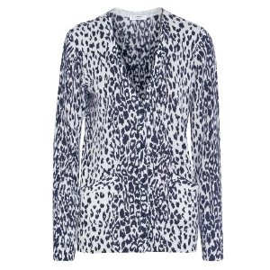 Equipment Sullivan leopard-print cashmere cardigan