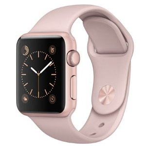 Apple Watch Series 1 38mm Rose Gold-Tone Aluminum Case with Pink Sand Sport Band