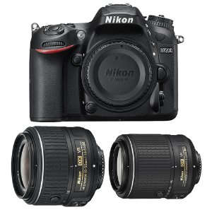 $849 Nikon Refurbished D7200 with 18-55 and 55-200 VR II Lenses
