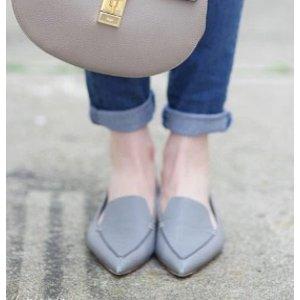 Nicholas Kirkwood Beya Pebbled Leather Point Toe Loafers