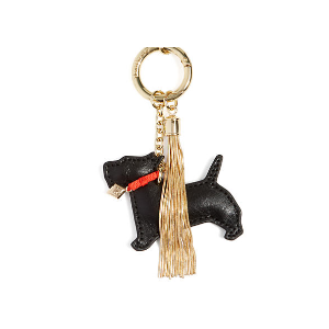 Charming Scottie Bag Charm in Black