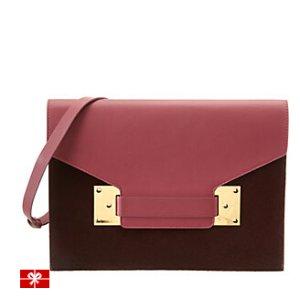 Rue La La — Sophie Hulme Milner Leather & Haircalf Shoulder Bag