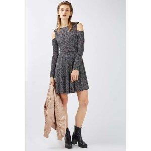 Glitter Tie Back Cold Shoulder Dress - Sale & Offers- Topshop USA