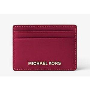 Jet Set Travel Saffiano Leather Card Case | Michael Kors