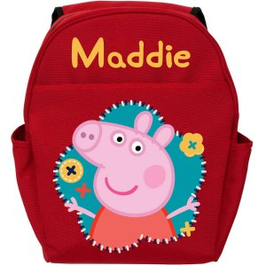 Personalized Peppa Pig Flower Fun Red Toddler Backpack - Walmart.com