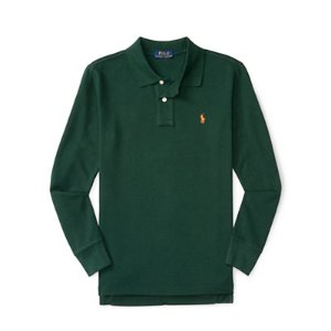 Cotton Mesh Long-Sleeve Polo - Long Sleeve � Polo Shirts - RalphLauren.com