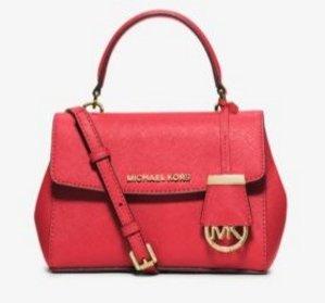 $93.45(Org. $178) MICHAEL MICHAEL KORS Ave Extra-Small Saffiano Leather Crossbody Sale @ Michael Kors