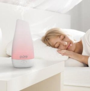 PureSpa Essential Oil Diffuser — Compact Ultrasonic Aromatherapy Diffuser With Ionizer and Color-Changing Light