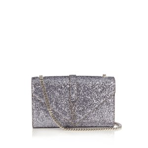 Monogram small glitter cross-body bag Saint Laurent