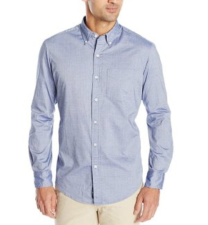 $9.48U.S. Polo Assn. Men's Dobby Print Long Sleeve Oxford Shirt