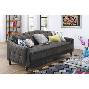 9 by Novogratz Vintage Tufted Sofa Sleeper II, Multiple Colors