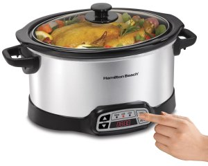 Hamilton Beach 33660 Programmable Slow Cooker, Silver, 6 quart