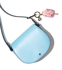 $175(Org. $250)+$25 Reward Card Tory Burch Mini Saddle Bag @ Bloomingdales