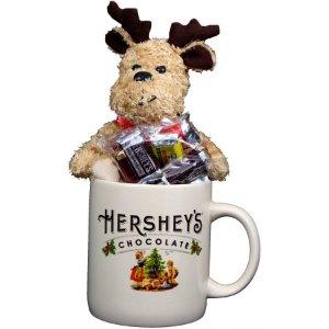 $4.99(原价$9.98)Hershey's 好时巧克力+马克杯+毛绒驯鹿礼品套装