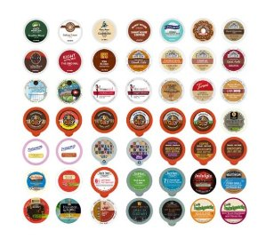 Coffee, Tea, and Hot Chocolate Variety Sampler Pack for Keurig K-Cup Brewers, 50 Count