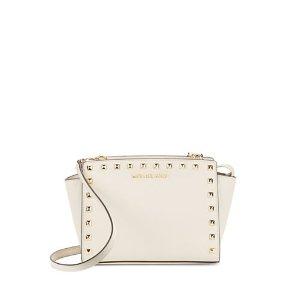Selma Leather Studded Medium Messenger Bag | Lord & Taylor