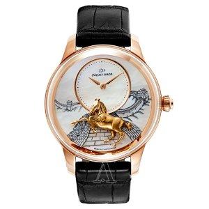 $28800(reg. $62000)JAQUET DROZ J005023275 LES ATELIERS D'ART PETITE HEURE MINUTE RELIEF Watch