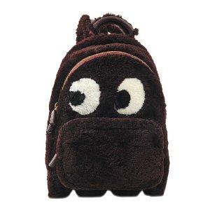 Backpack Mini Ghost In Burgundy Shearling Anya Hindmarch Purple