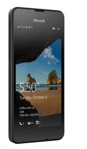 Lumia 550 RM-1128 8GB Smartphone (Unlocked, Black)