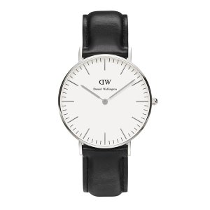 Daniel Wellington Women's Sheffield Silver Watch - Black - Free UK Delivery over £50