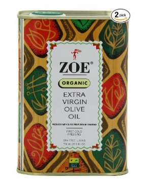 $18.99 Zoe Organic Extra Virgin Olive Oil, 25.5- Ounce tins (Pack of 2)