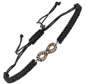 Infinity Macrame Bracelet with Swarovski Crystals