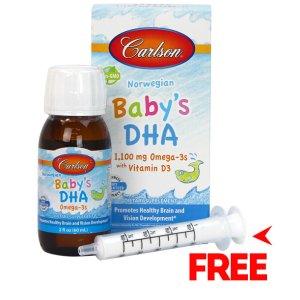 Carlson Baby's DHA 1100mg Omega-3s +D3 2fl.oz (60ml)