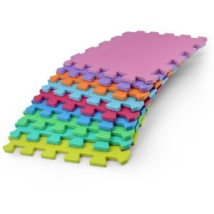 Foam Floor Puzzle Mat for Kids, 9-Piece