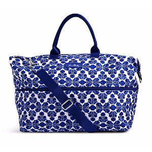 Lighten Up Expandable Travel Bag in Cobalt Tile