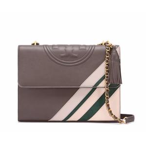 Tory Burch Fleming Stripe Convertible Shoulder Bag