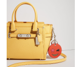 COACH Pebbled Leather Coach Swagger 21 SV/Canary - 6pm.com