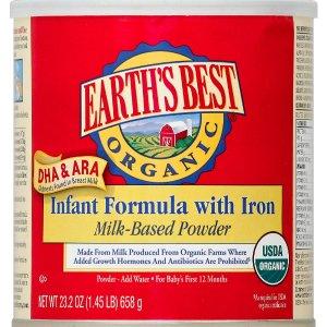 Earth's Best Organic Formula with DHA & ARA - 23.3 Ounce - Toys 'R' Us - Babies